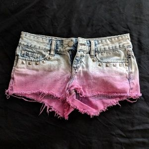 Ombre Jean shorts